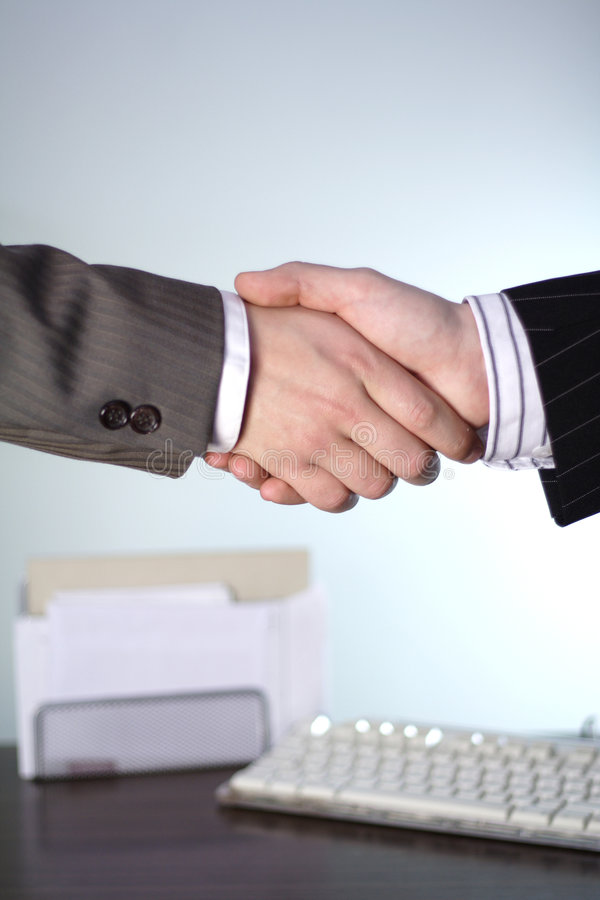 biznes uścisk dłoni fotografia stock