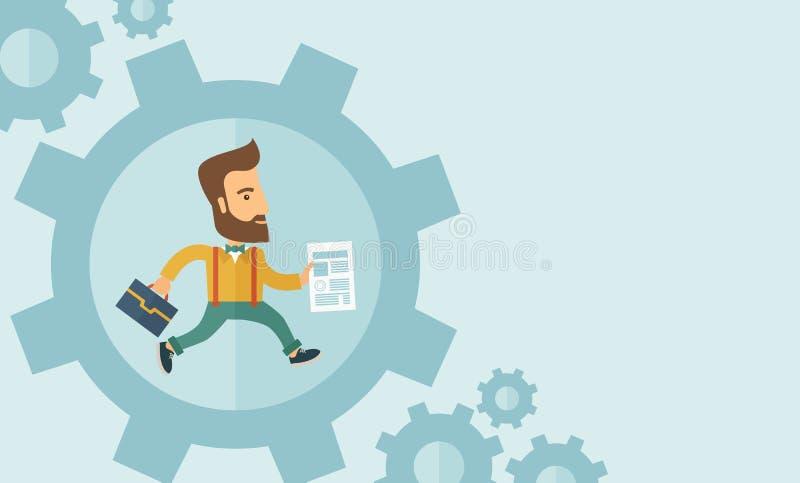 Biznes w Akci royalty ilustracja