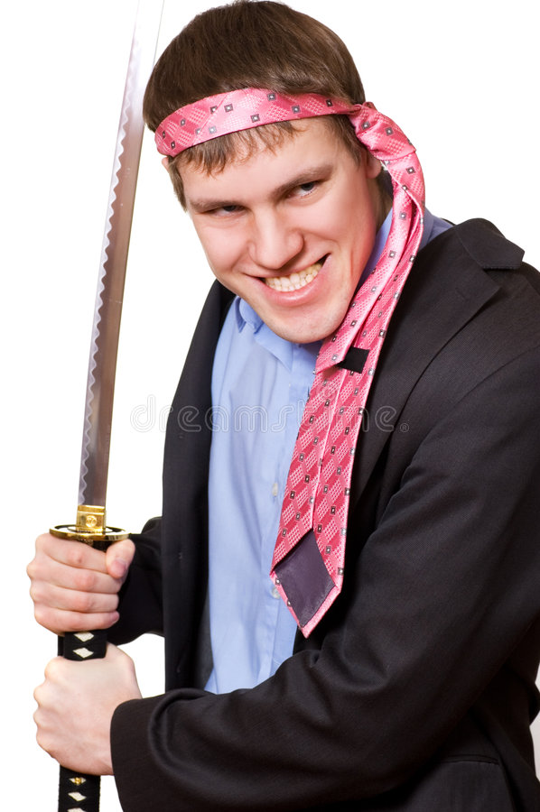 biznes wariat miecz fotografia stock