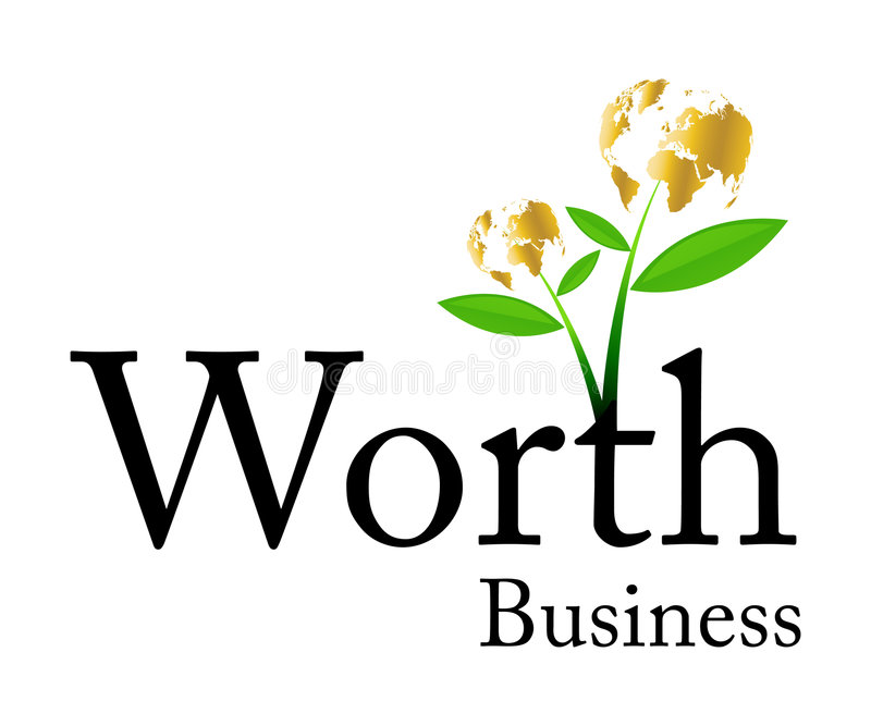 biznes wart logo ilustracja wektor