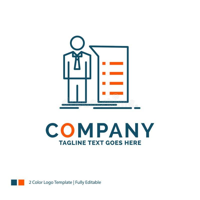 Biznes, wyjaśnienie, wykres, spotkanie, prezentacja logo projekt ilustracji