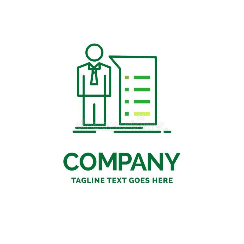 Biznes, wyjaśnienie, wykres, spotkanie, prezentacji mieszkania biznes ilustracji