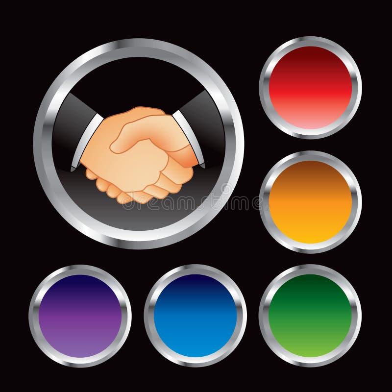 biznes zapina stubarwną uścisk dłoni sieć ilustracja wektor