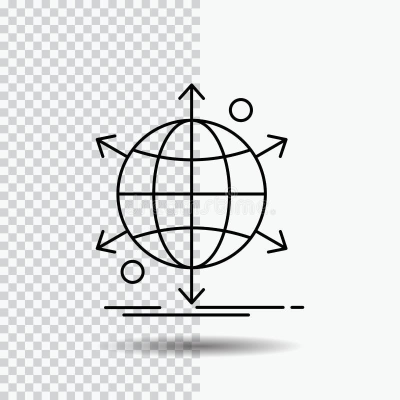 biznes, zawody międzynarodowi, sieć, sieć, sieci Kreskowa ikona na Przejrzystym tle Czarna ikona wektoru ilustracja royalty ilustracja