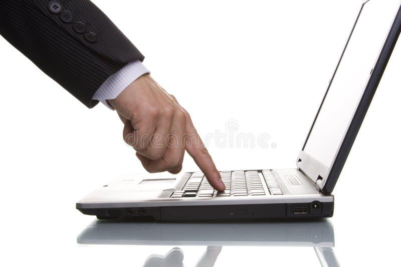 biznesmenów acessing danych zdjęcie stock
