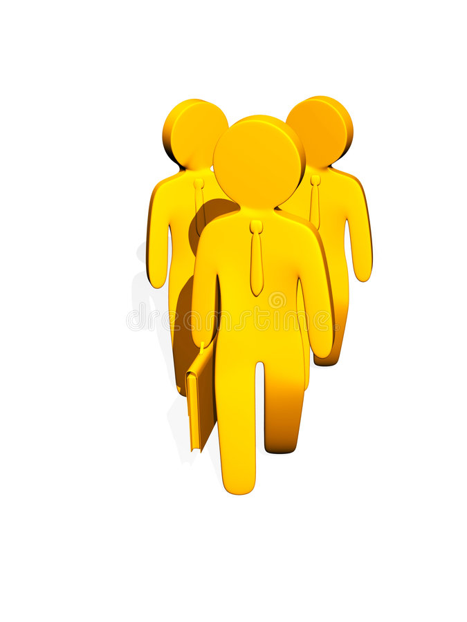 biznesmenów charakterów kolor żółty royalty ilustracja