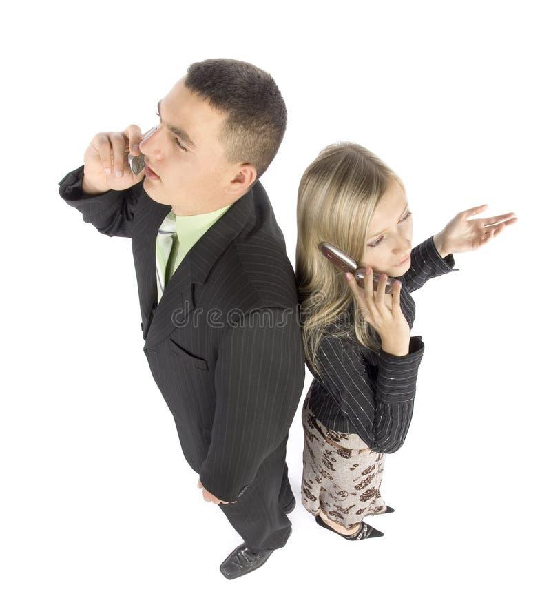 biznesmenów telefony komórkowe. zdjęcie stock