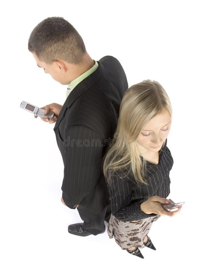 biznesmenów telefony komórkowe. fotografia stock