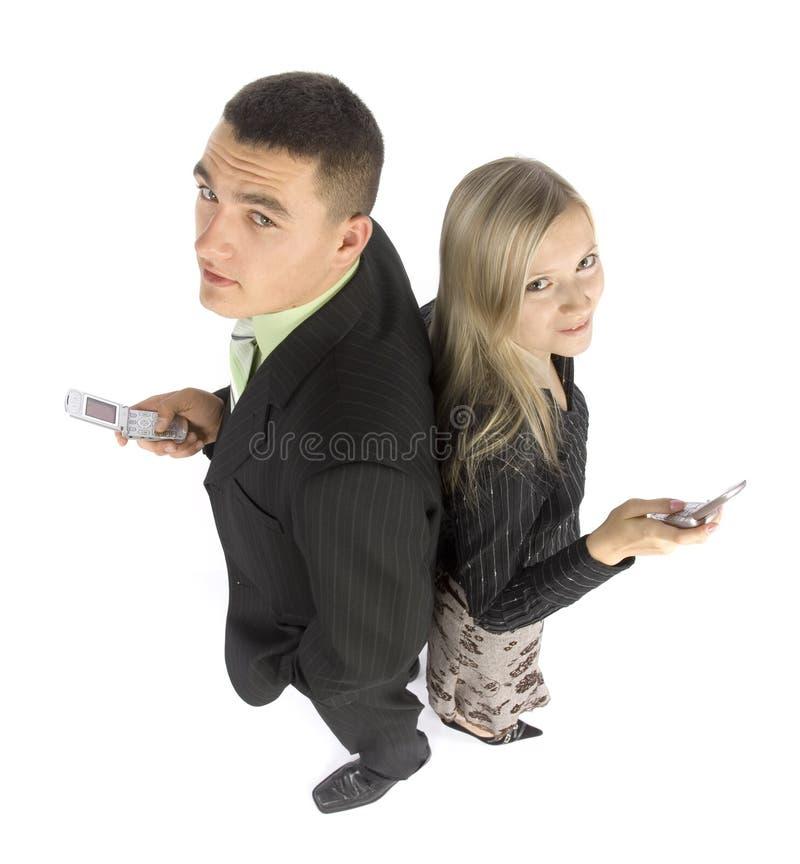 biznesmenów telefony komórkowe. zdjęcia stock