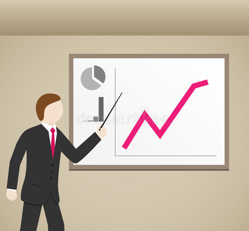 biznesmenów wykresy ilustracji