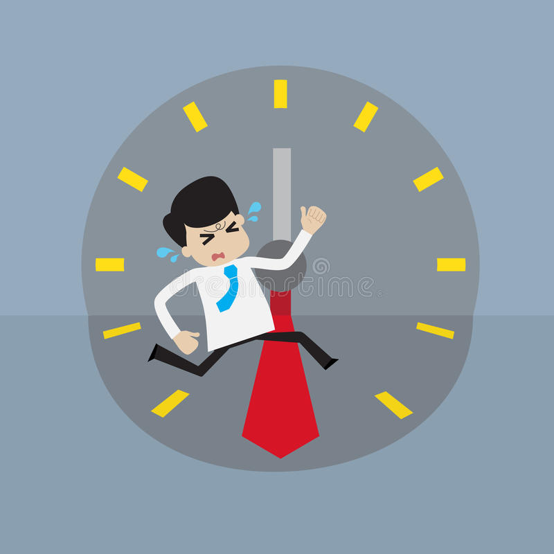 Biznesmen ściga się z czasem royalty ilustracja