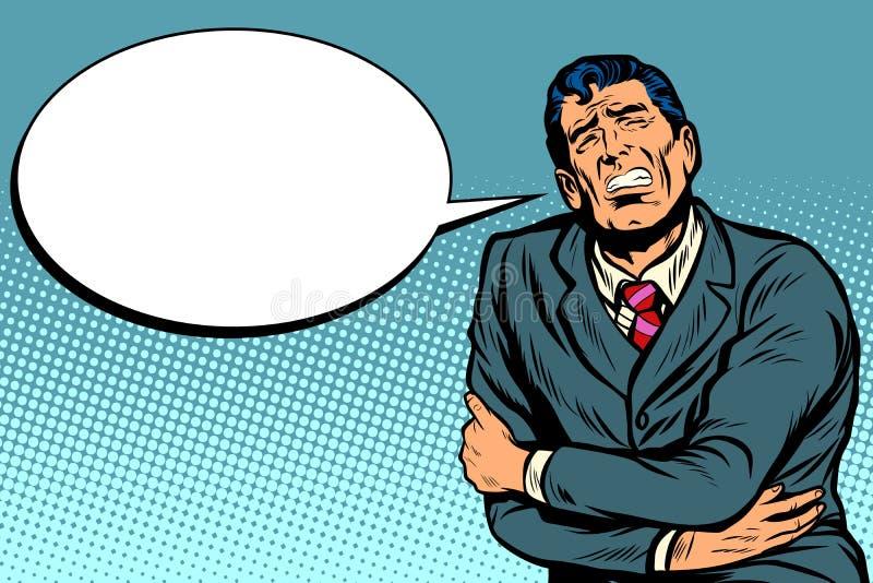 Biznesmen żołądek obolałość ilustracja wektor