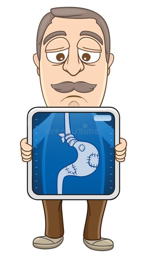 Biznesmen - żołądek obolałość ilustracja wektor