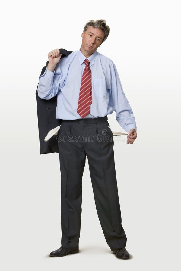 biznesmen bankrutem zdjęcie royalty free
