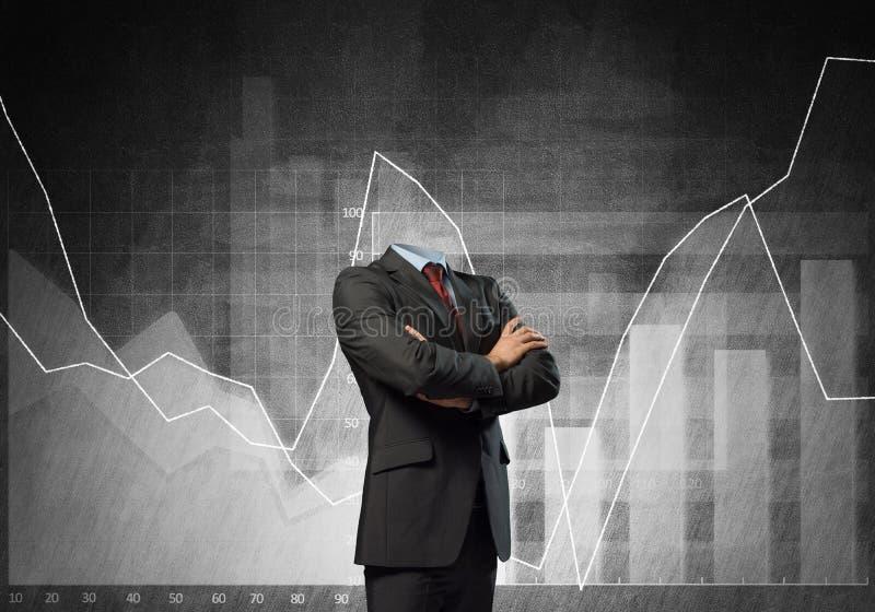 Biznesmen bez głowy obrazy stock