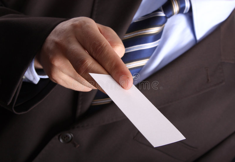 biznesmen biznesową kartę pusta fotografia royalty free