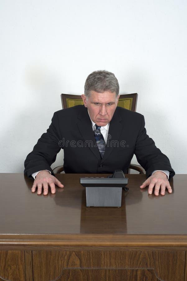 Biznesmen Biznesowe sprzedaże Wprowadzać na rynek rozmowę telefonicza fotografia royalty free