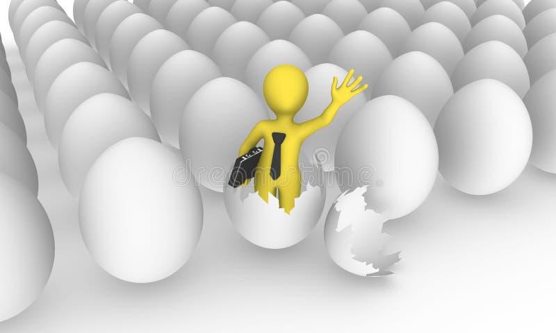 Biznesmen był urodzony od jajka ilustracja wektor