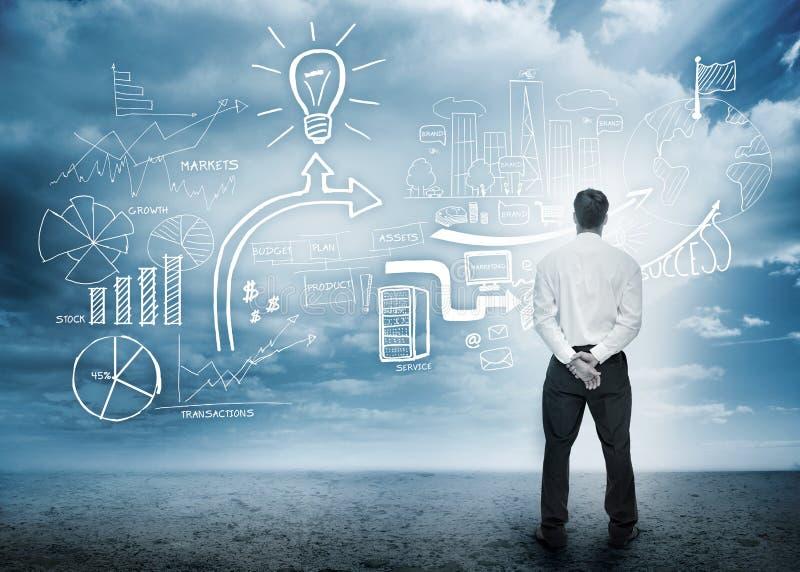 Biznesmen considering brainstorm obraz royalty free