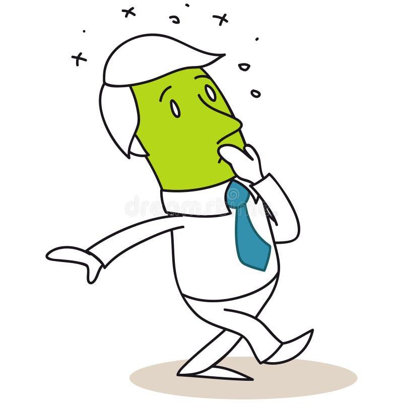 Biznesmen czuciowa choroba ilustracji
