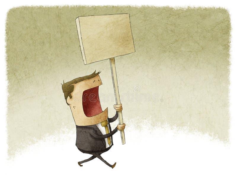 Biznesmen demonstracja ilustracji