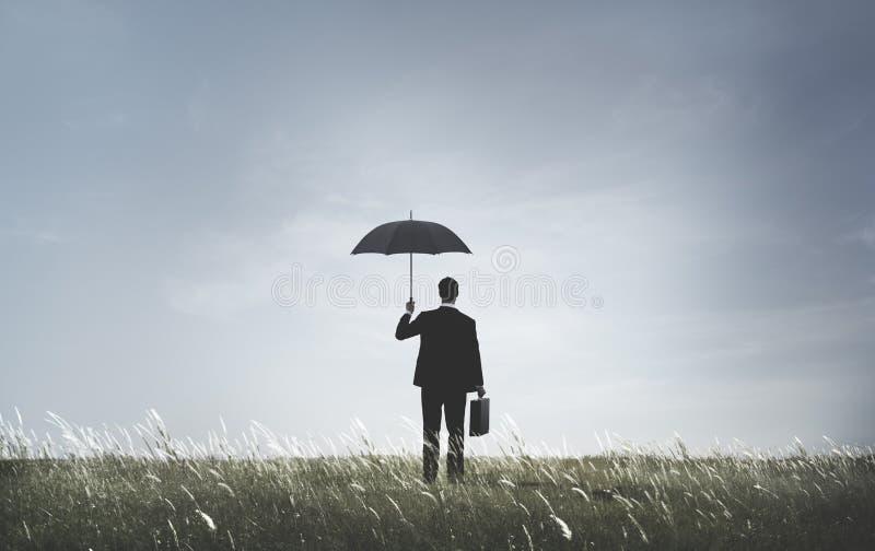 Biznesmen depresji niepokoju frustraci smucenia pojęcie zdjęcia stock