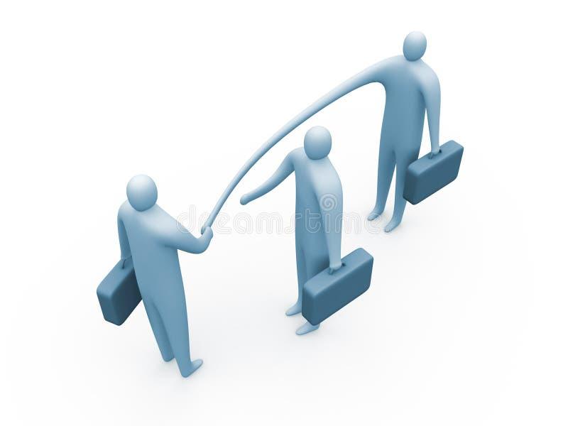 biznesmen elastyczne ilustracja wektor