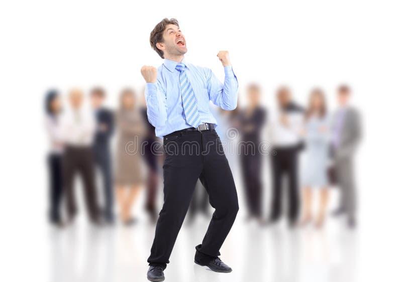 biznesmen energiczny szczęśliwy jeden bardzo zdjęcia stock