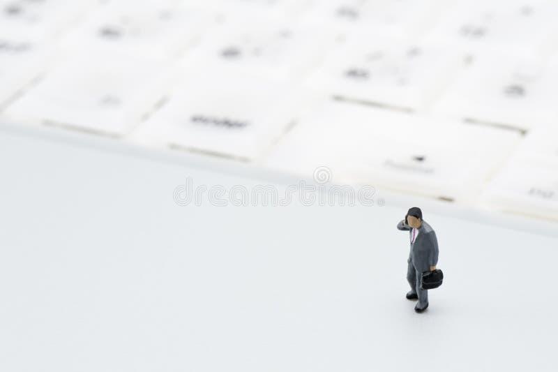 Biznesmen figurka zdjęcie stock