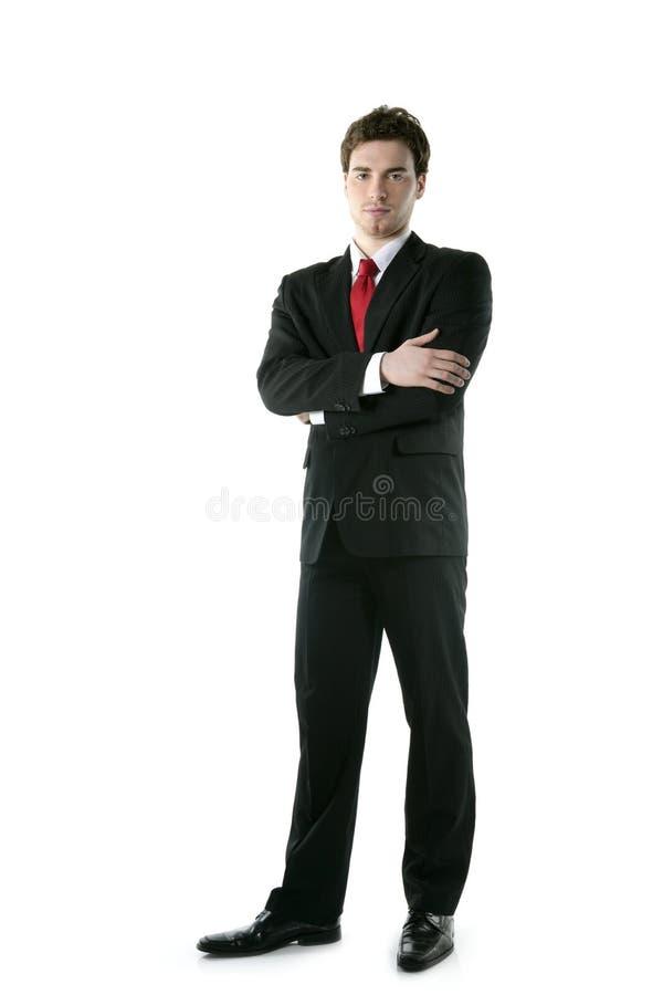 biznesmen folował długość target1335_0_ statywowego kostiumu krawat obrazy royalty free