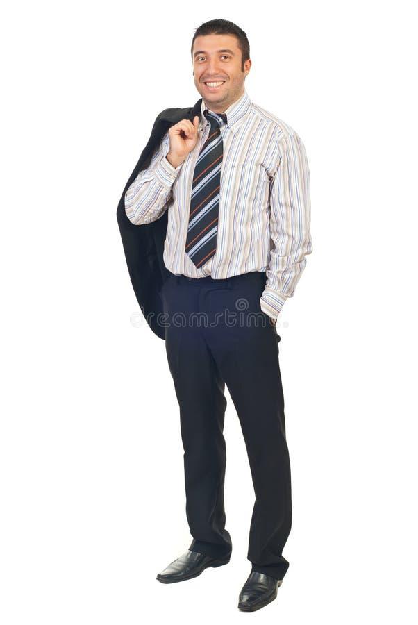biznesmen folująca przystojna długość obrazy stock