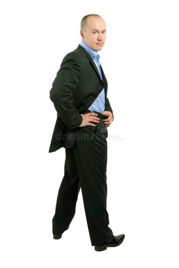 biznesmen folujący długości portret obraz stock