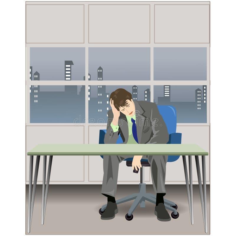 biznesmen frustracja ilustracja wektor