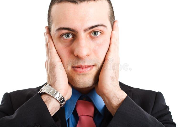 biznesmen głuchy zdjęcie royalty free
