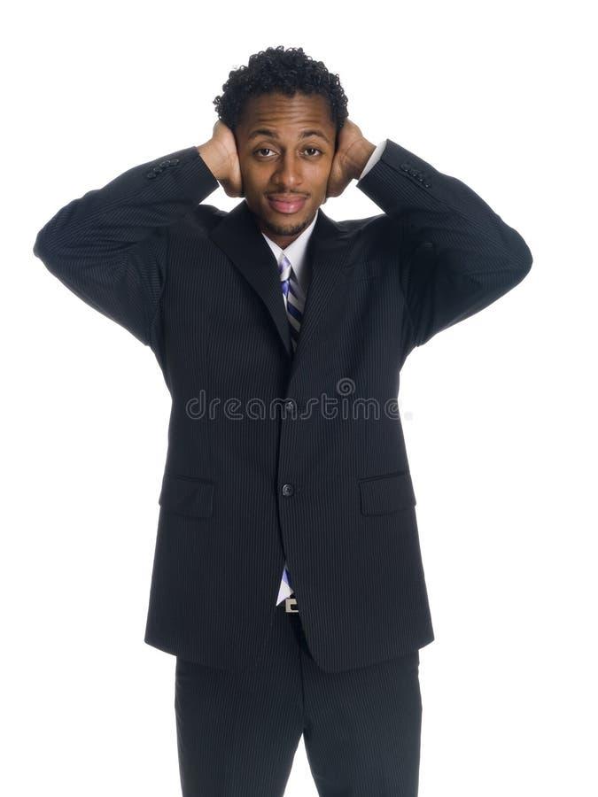Biznesmen głuchy - obrazy stock