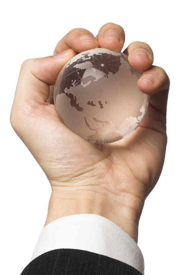 biznesmen globe gospodarstwa zdjęcia royalty free