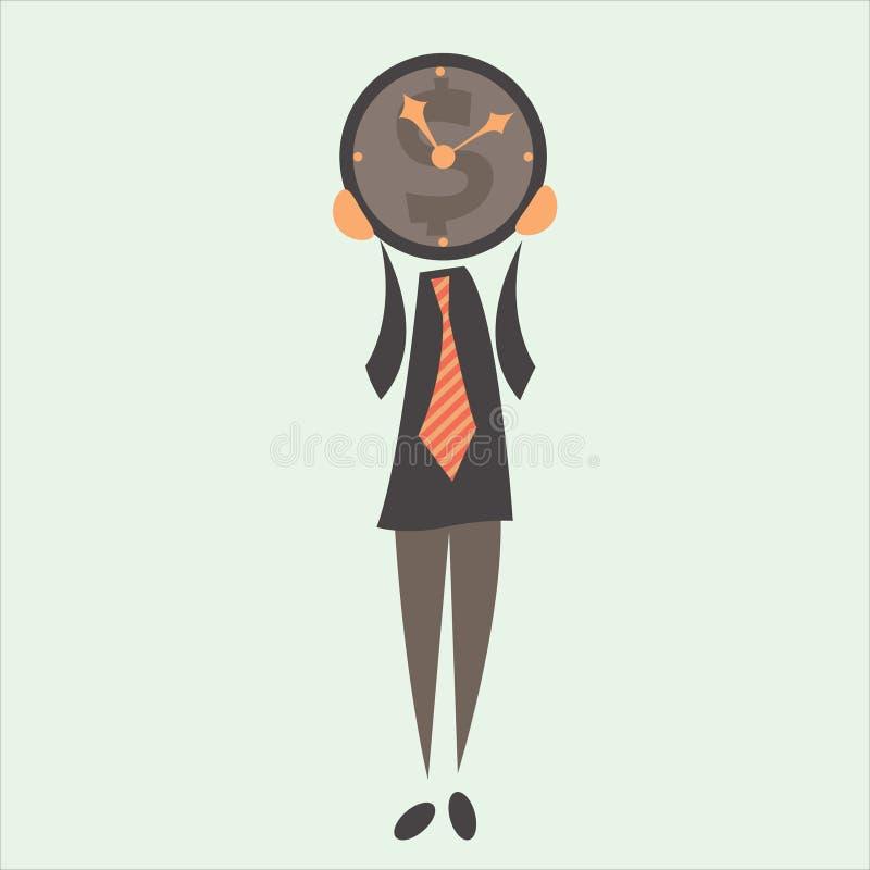 Biznesmen i czas royalty ilustracja