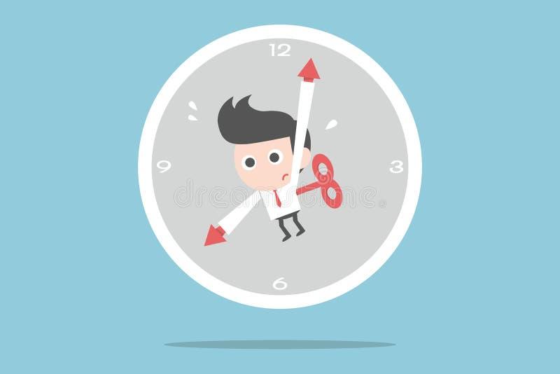 Biznesmen i czas ilustracja wektor