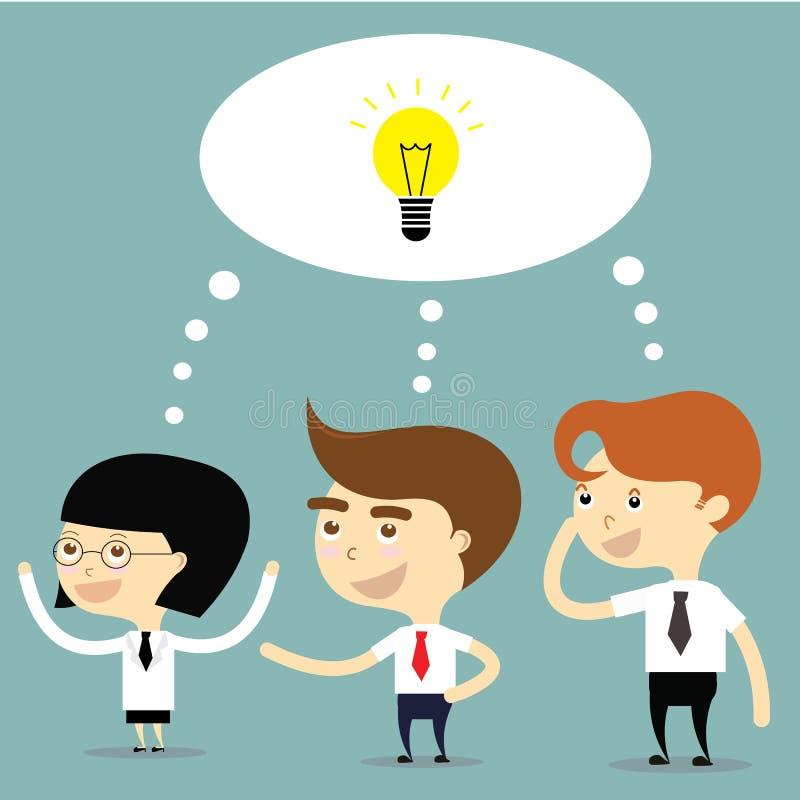 Biznesmen i kobieta pomysł dla biznesowego wektoru royalty ilustracja