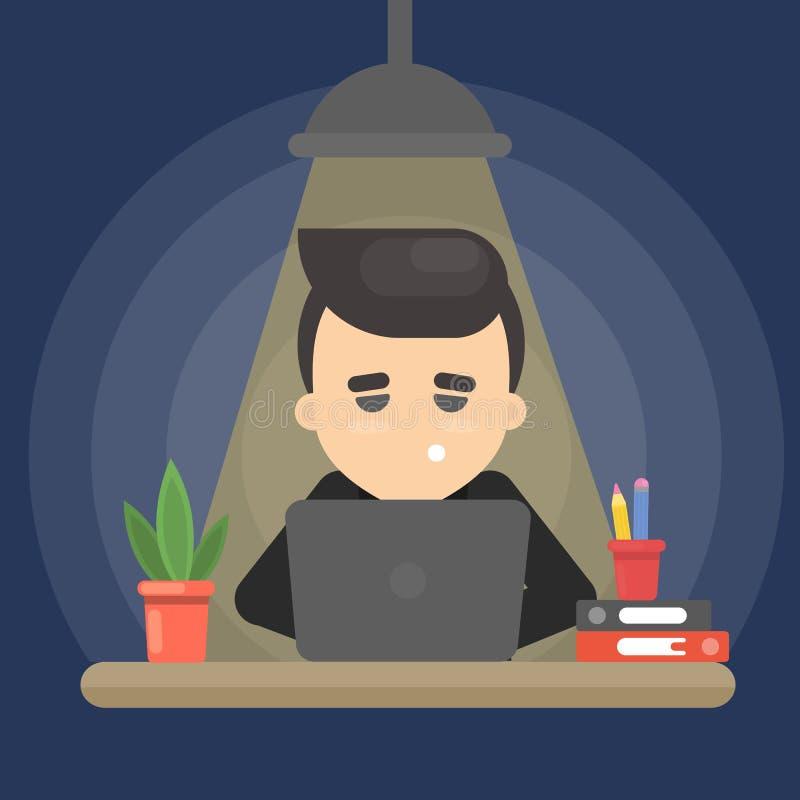 Biznesmen i ostateczny termin ilustracji