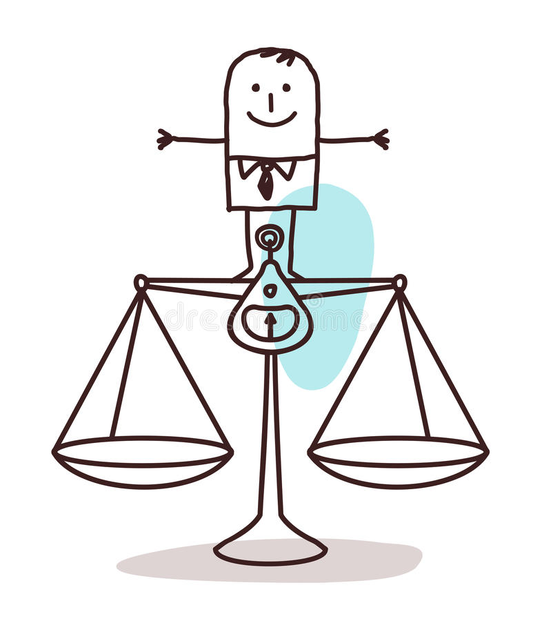 Biznesmen i równowaga royalty ilustracja