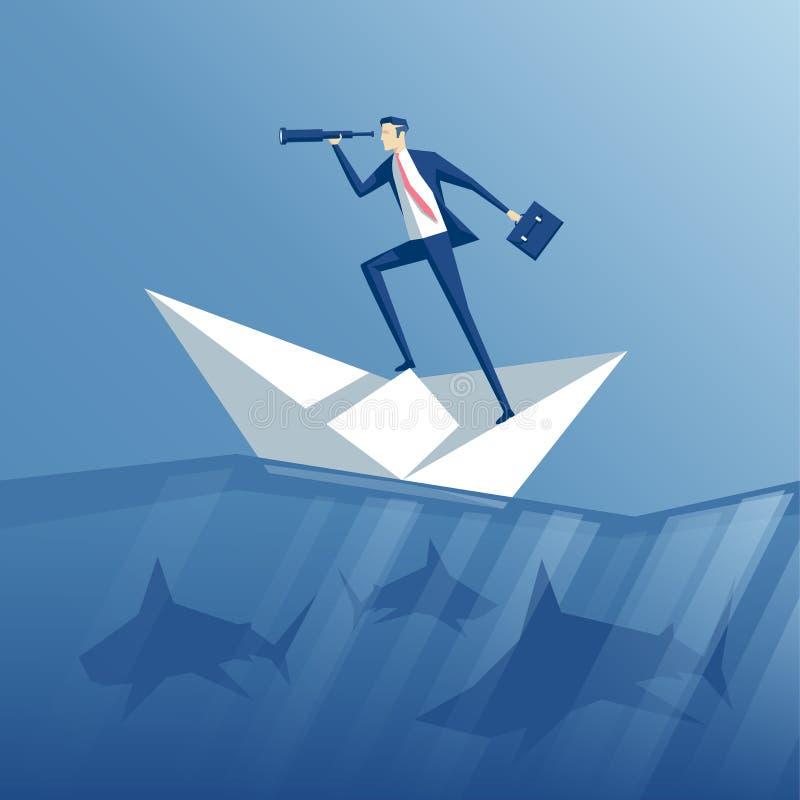 Biznesmen i ryzyko royalty ilustracja