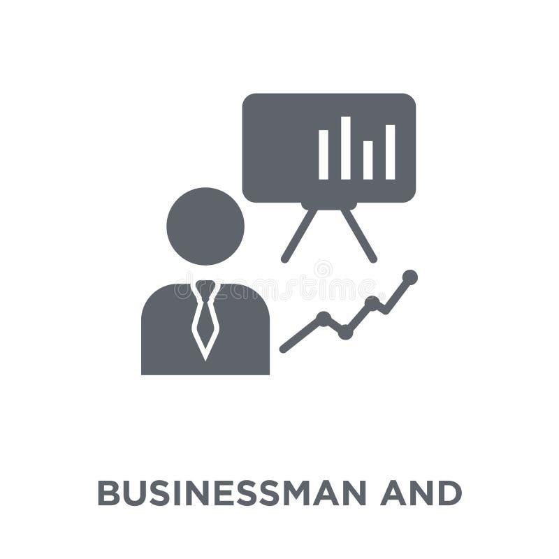 Biznesmen i strategii ikona od strategii 50 kolekcji royalty ilustracja