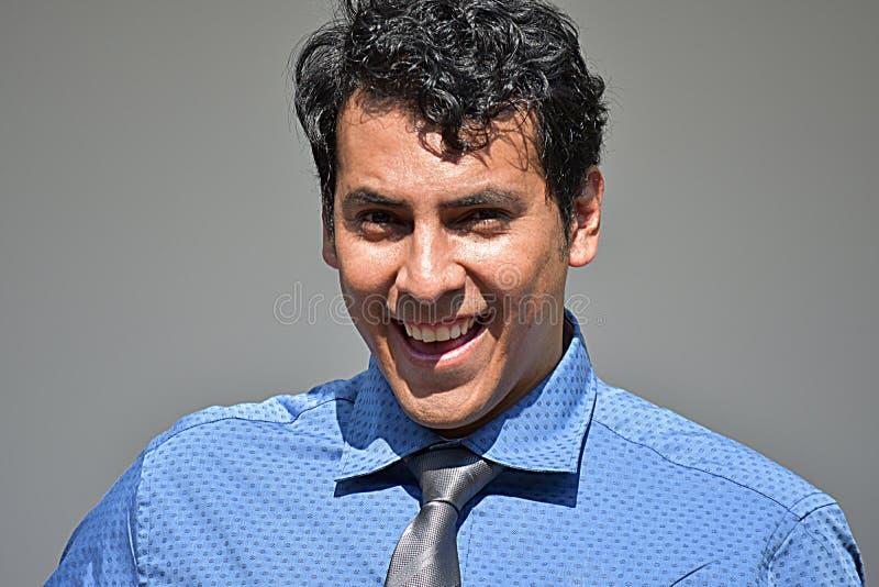 Biznesmen I szczęście Jest ubranym krawat obrazy stock