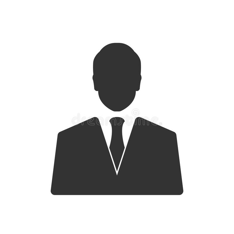 Biznesmen ikona odizolowywająca na bielu ilustracja wektor