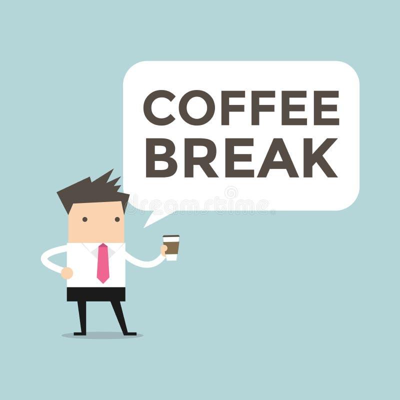 Biznesmen kawowa przerwa royalty ilustracja