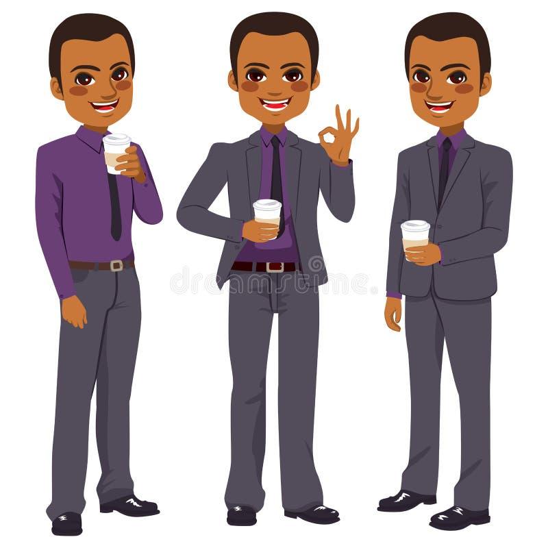 Biznesmen Kawowy Bierze Daleko od ilustracji