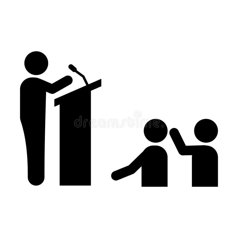Biznesmen, konferencja, ludzie, spiker ikona Element biznesmena piktograma ikona Premii ilo?ci graficznego projekta ikona znaki ilustracji