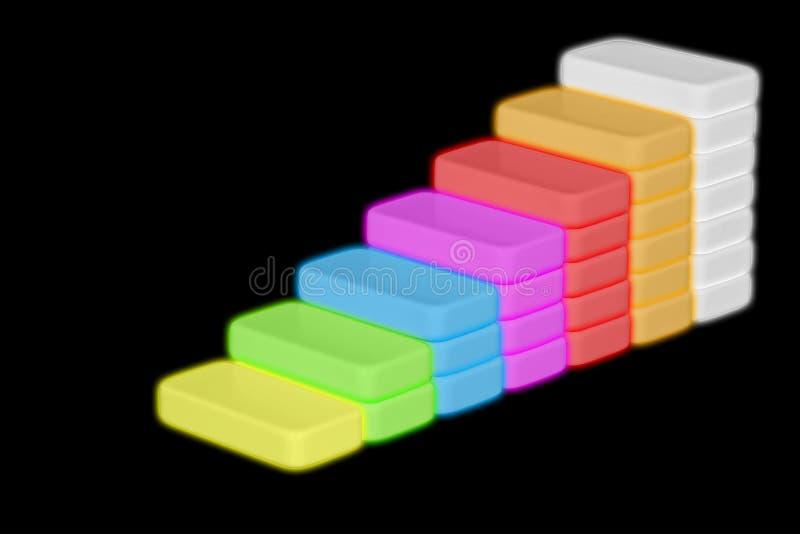 Biznesmen lub uczeń chodzi jego palców kroki przypomina schody up wspinaliśmy się w nieociosanych drewnianych deskach w konceptua ilustracja wektor