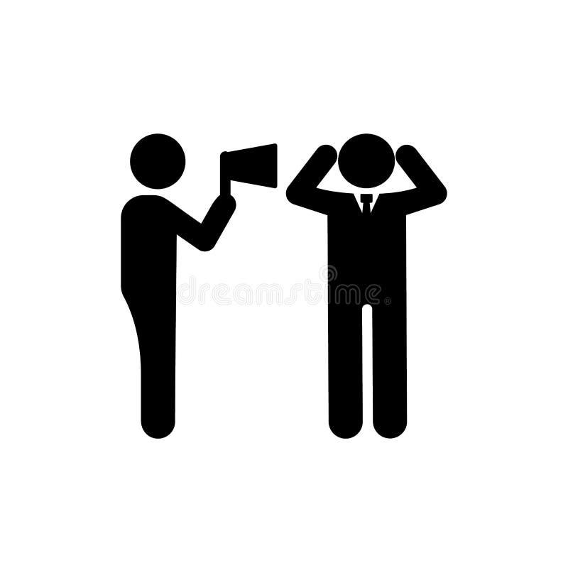 Biznesmen, mężczyzna, megafon, gniewna ikona Element biznesmena piktograma ikona Premii ilo?ci graficznego projekta ikona znaki i royalty ilustracja